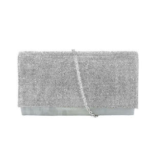 INC CONCEPTS Silver Polyester Sparkle Clutch$80.00